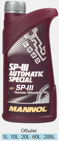 MANNOL 8209 AVTOMATIC SPECIAL ATF SP III 4л.