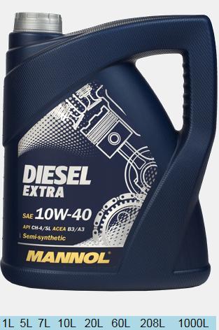 MANNOL DIESEL EXTRA  10W40 7л.