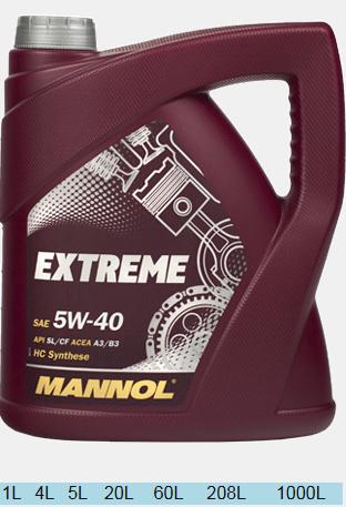 MANNOL EXTREME 5W40  4л