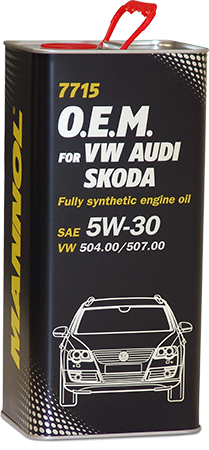 MANNOL O.E.M.for VW Audi Skoda  5W30  МАННОЛ 1л (метал) 7715