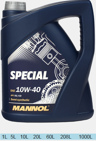 MANNOL SPECIAL TELSYNTHETIC  10w40 4л.