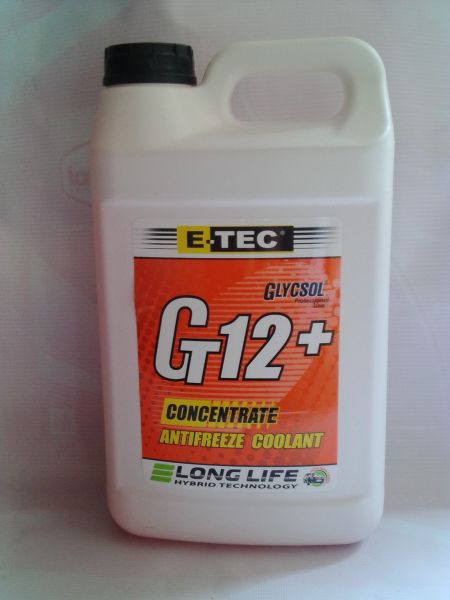 E-TEC Антифриз концентрат Gt12+ Glycsol кан. п/е  4 л. червоний