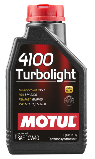 387601 MOTUL  4100 Turbolight 10W40 1л.