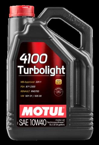 387606 MOTUL  4100 Turbolight 10W40 5л.