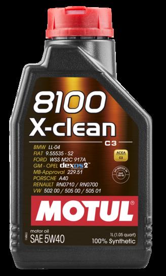 854111 MOTUL  8100 X-clean 5W40 1л.