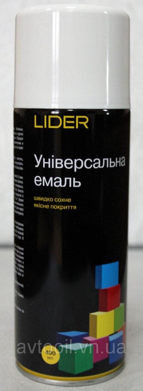 LIDER Фарба 9010 біла матова 400 мл.