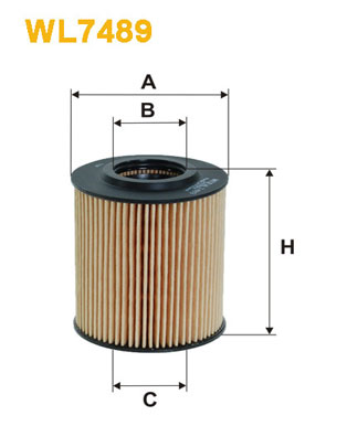 WIX Фільтр масляний WL 7489