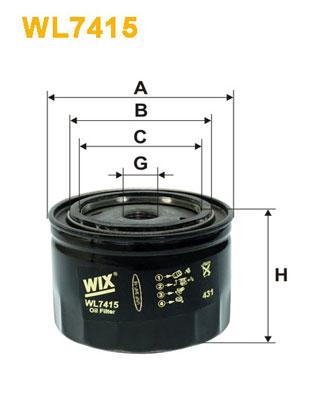 WIX Фільтр масляний WL 7415
