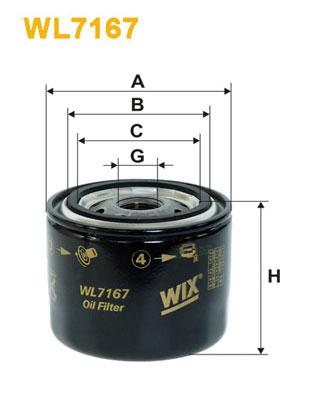 WIX Фільтр масляний WL 7167