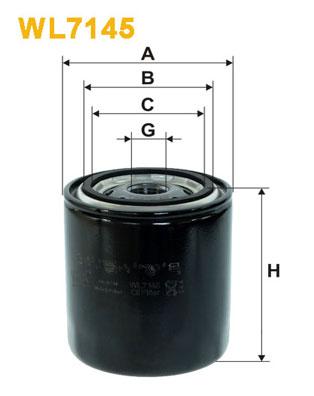 WIX Фільтр масляний WL 7145