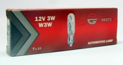 AG Автомобільна лампа  AG 40036S   12V 3W W3W