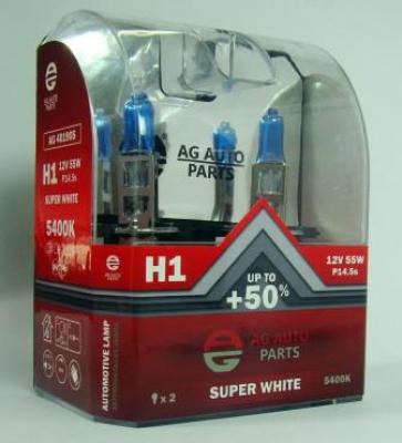 AG Автомобільна лампа  AG 40190S  Н1 12V 55W P14.5S SUPER WHITE