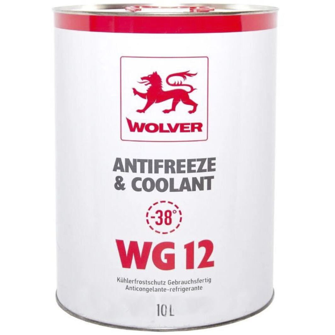 WOLVER Антифриз WG12 (червоний) ж/б 10л