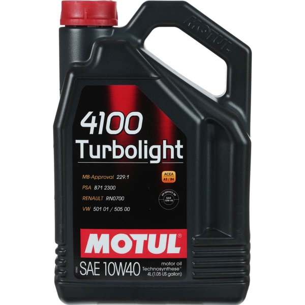 387607 MOTUL  4100 Turbolight 10W40 4л.