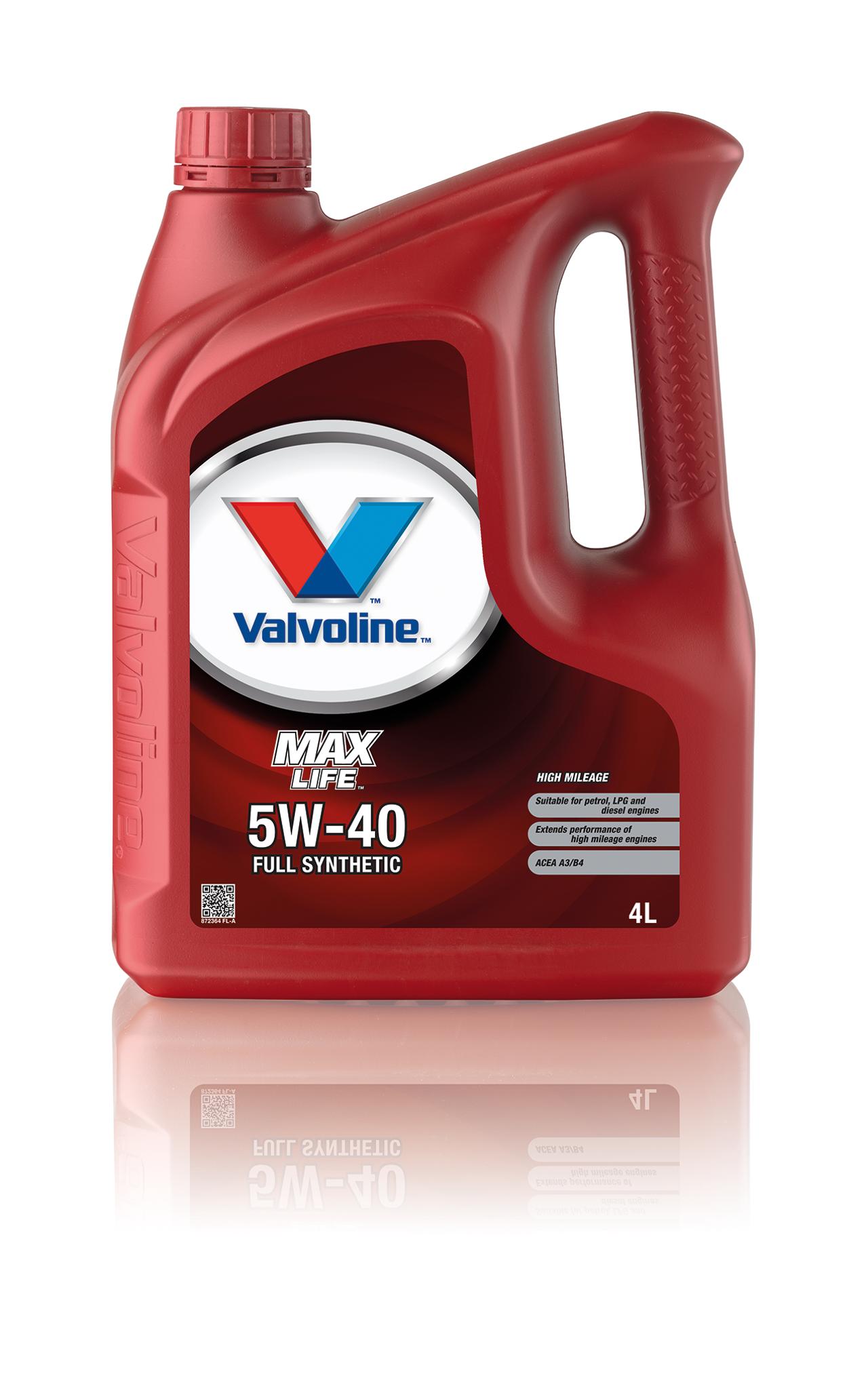 Олива моторна VALVOLINE MAXLIFE 5W40 4л. / 872364