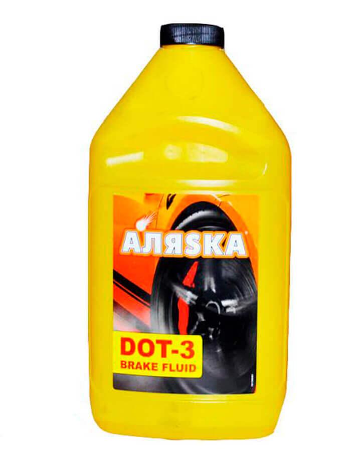 АЛЯSКА Гальмівна рідина ДОТ-3 400г. (жовта)