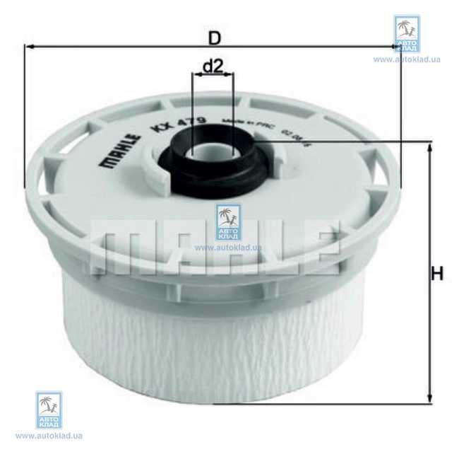 KNECHT Фільтр паливний KX 479D
