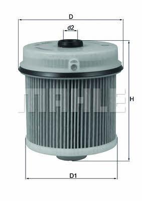 KNECHT Фільтр паливний KX 445D