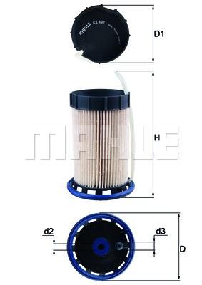 KNECHT Фільтр паливний KX 492