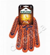 DOLONI 564 Рукавиці робочі з зіркою помаранчеві