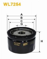 WIX Фільтр масляний WL 7254