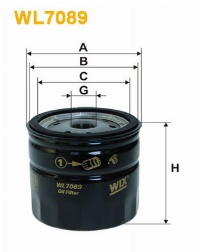WIX Фільтр масляний WL 7089