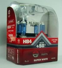 AG Автомобільна лампа  AG 40109S  НB4 12V 55W P22D SUPER WHITE 4800K
