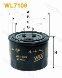 WIX Фільтр масляний WL 7109