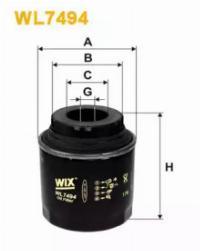 WIX Фільтр масляний WL 7494