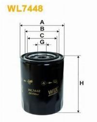 WIX Фільтр масляний WL 7448